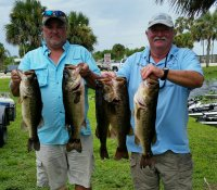 Mike Hampton and Tim Kopf with 22.98 pounds and first place